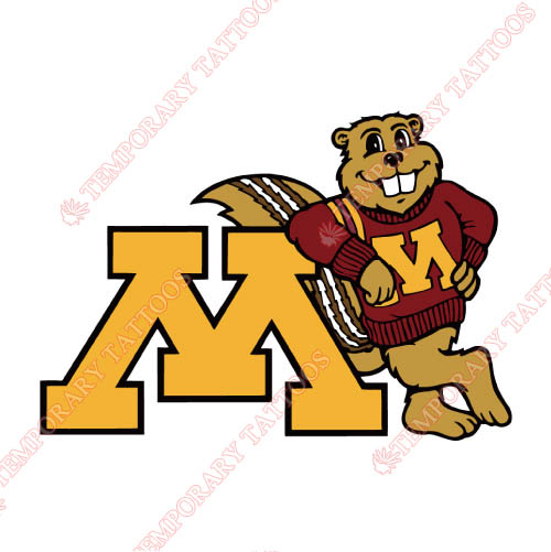 Minnesota Golden Gophers Customize Temporary Tattoos Stickers NO.5107