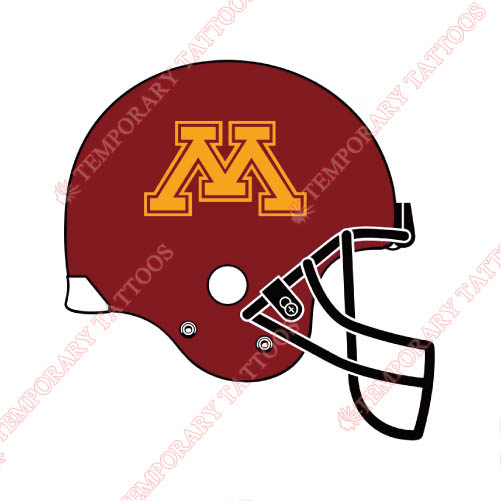 Minnesota Golden Gophers Customize Temporary Tattoos Stickers NO.5108