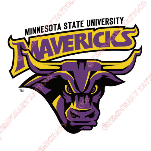 Minnesota State Mavericks Customize Temporary Tattoos Stickers NO.5111