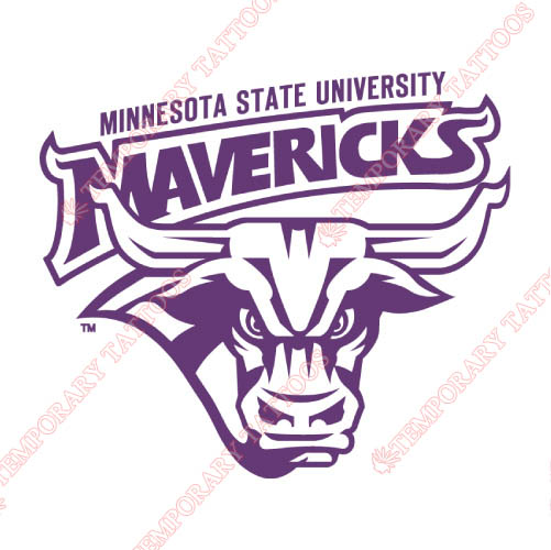 Minnesota State Mavericks Customize Temporary Tattoos Stickers NO.5112