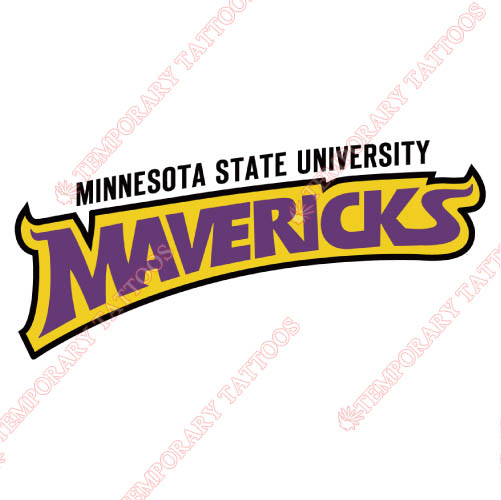 Minnesota State Mavericks Customize Temporary Tattoos Stickers NO.5113