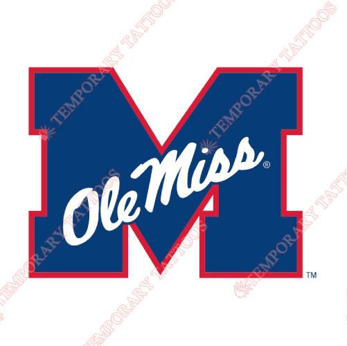 Mississippi Rebels Customize Temporary Tattoos Stickers NO.5116