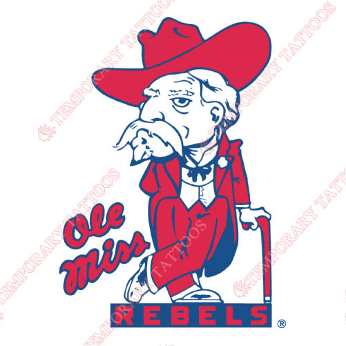 Mississippi Rebels Customize Temporary Tattoos Stickers NO.5121
