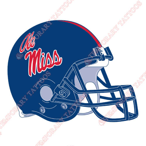 Mississippi Rebels Customize Temporary Tattoos Stickers NO.5124