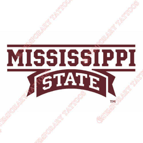 Mississippi State Bulldogs Customize Temporary Tattoos Stickers NO.5125