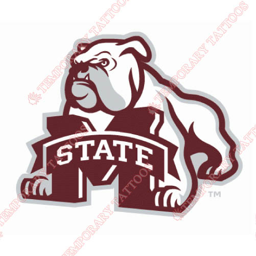 Mississippi State Bulldogs Customize Temporary Tattoos Stickers NO.5127