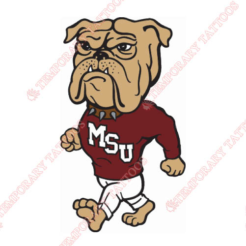 Mississippi State Bulldogs Customize Temporary Tattoos Stickers NO.5128