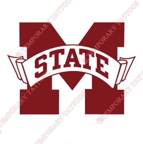 Mississippi State Bulldogs Customize Temporary Tattoos Stickers NO.5130