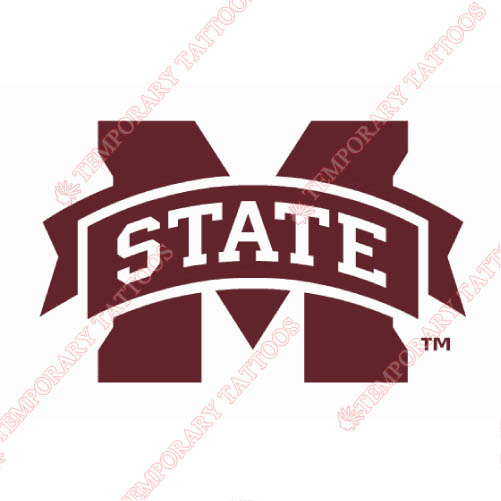 Mississippi State Bulldogs Customize Temporary Tattoos Stickers NO.5132