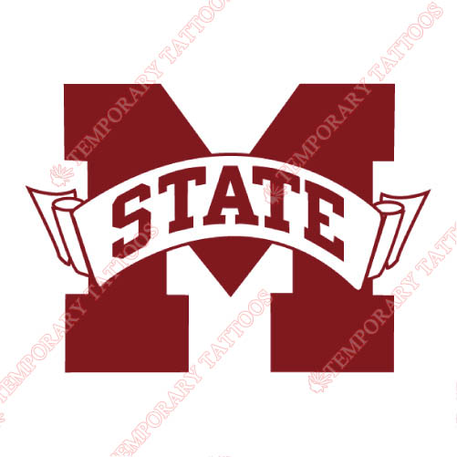 Mississippi State Bulldogs Customize Temporary Tattoos Stickers NO.5133