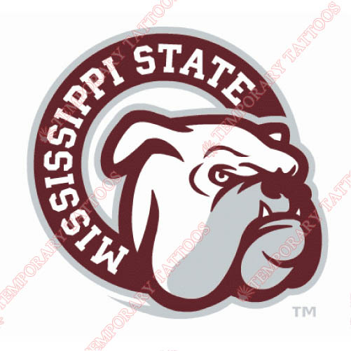 Mississippi State Bulldogs Customize Temporary Tattoos Stickers NO.5134