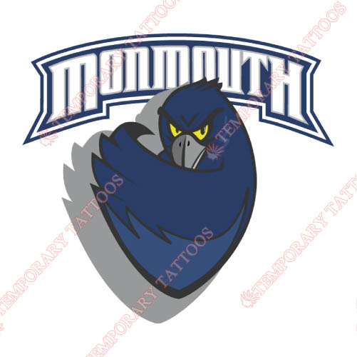 Monmouth Hawks Customize Temporary Tattoos Stickers NO.5156