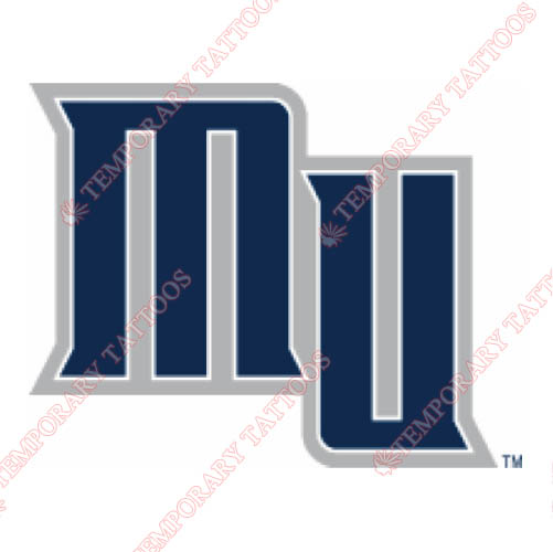 Monmouth Hawks Customize Temporary Tattoos Stickers NO.5159