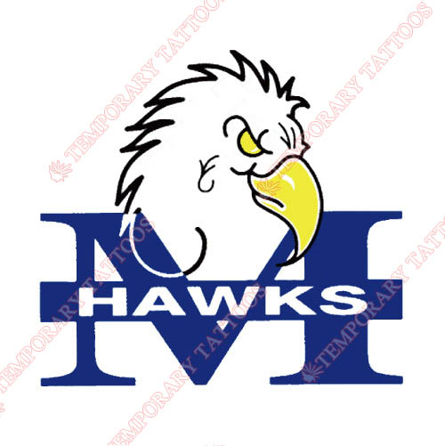 Monmouth Hawks Customize Temporary Tattoos Stickers NO.5160