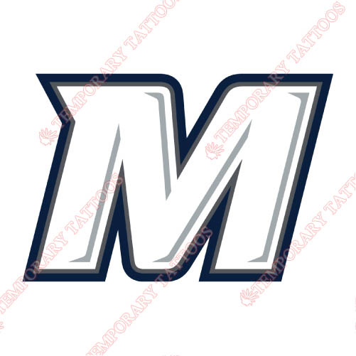Monmouth Hawks Customize Temporary Tattoos Stickers NO.5161