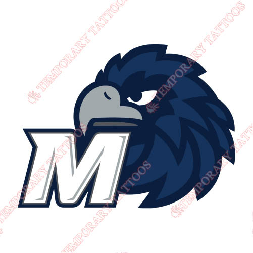 Monmouth Hawks Customize Temporary Tattoos Stickers NO.5163