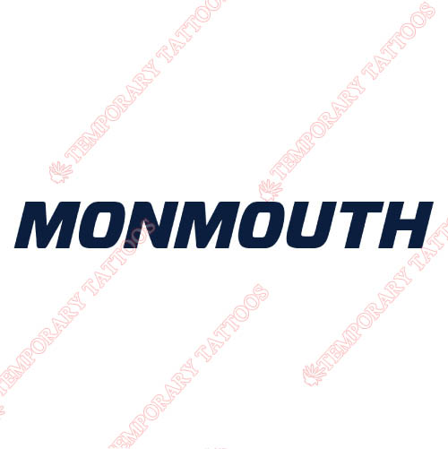Monmouth Hawks Customize Temporary Tattoos Stickers NO.5165