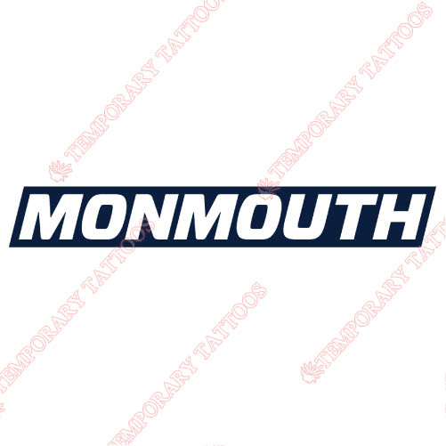 Monmouth Hawks Customize Temporary Tattoos Stickers NO.5166