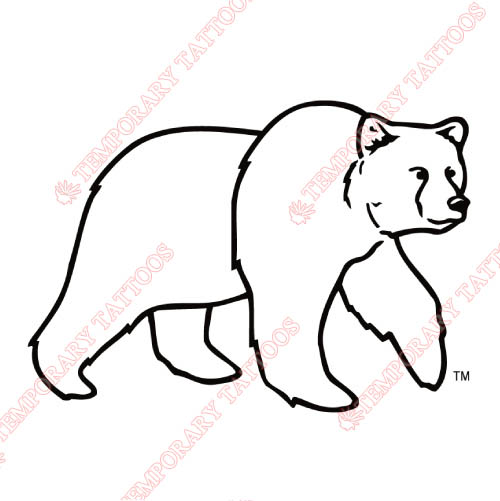 Montana Grizzlies Customize Temporary Tattoos Stickers NO.5173