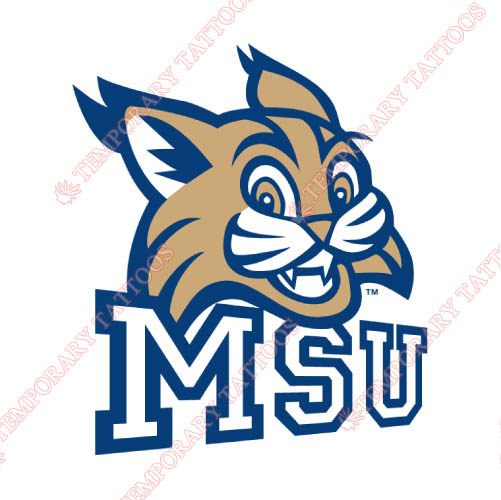 Montana State Bobcats Customize Temporary Tattoos Stickers NO.5180