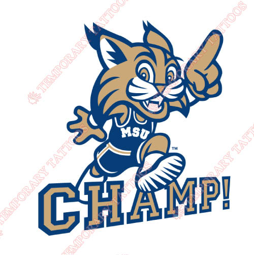 Montana State Bobcats Customize Temporary Tattoos Stickers NO.5182