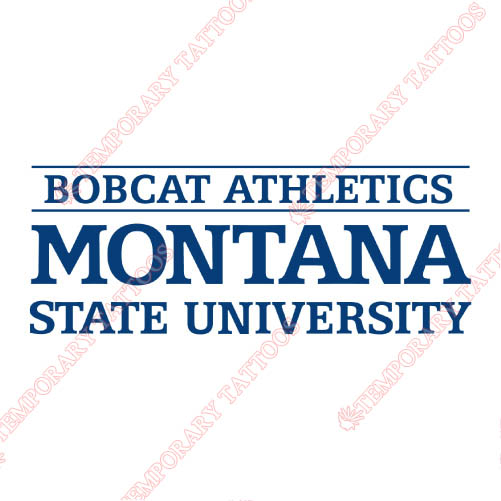 Montana State Bobcats Customize Temporary Tattoos Stickers NO.5184