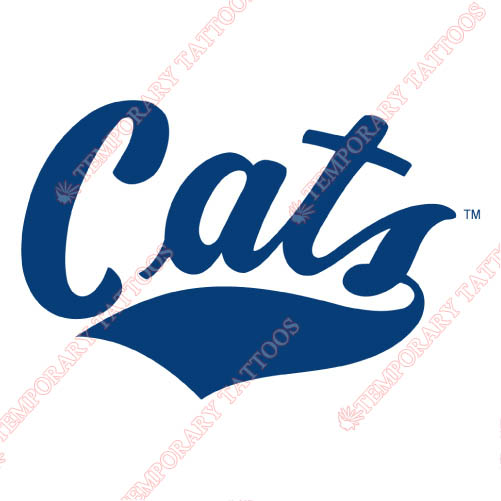 Montana State Bobcats Customize Temporary Tattoos Stickers NO.5185