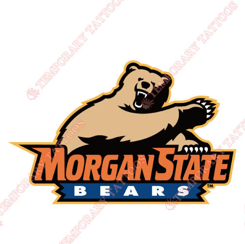 Morgan State Bears Customize Temporary Tattoos Stickers NO.5201