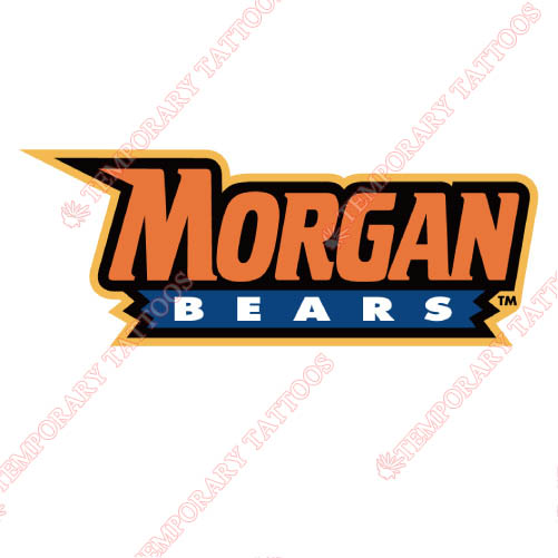 Morgan State Bears Customize Temporary Tattoos Stickers NO.5206