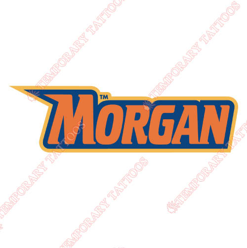 Morgan State Bears Customize Temporary Tattoos Stickers NO.5207