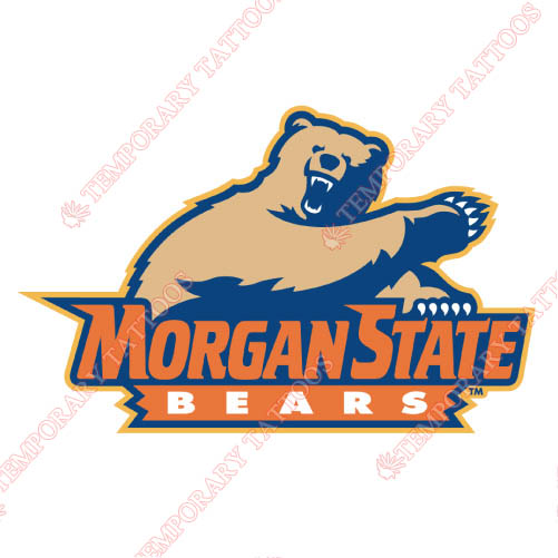 Morgan State Bears Customize Temporary Tattoos Stickers NO.5208