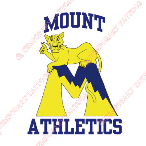 Mount St Marys Mountaineers Customize Temporary Tattoos Stickers NO.5211