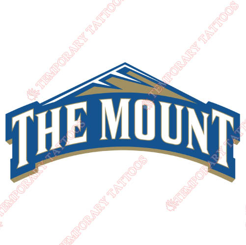 Mount St Marys Mountaineers Customize Temporary Tattoos Stickers NO.5212