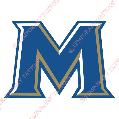 Mount St Marys Mountaineers Customize Temporary Tattoos Stickers NO.5214