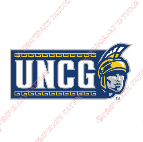NC Greensboro Spartans Customize Temporary Tattoos Stickers NO.5361
