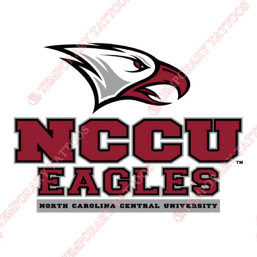NCCU Eagles Customize Temporary Tattoos Stickers NO.5371