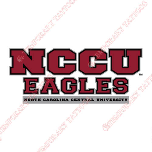 NCCU Eagles Customize Temporary Tattoos Stickers NO.5374
