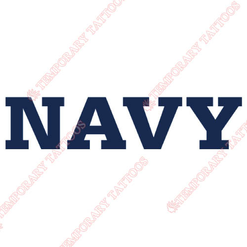 Navy Midshipmen Customize Temporary Tattoos Stickers NO.5345