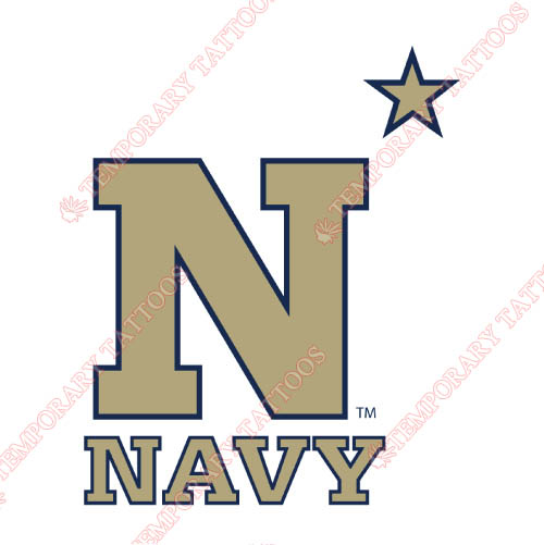 Navy Midshipmen Customize Temporary Tattoos Stickers NO.5350