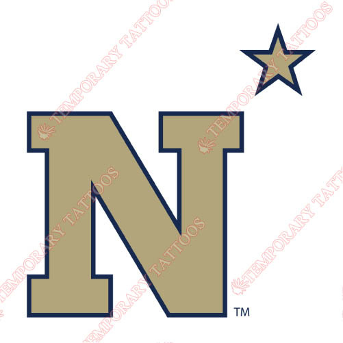 Navy Midshipmen Customize Temporary Tattoos Stickers NO.5352