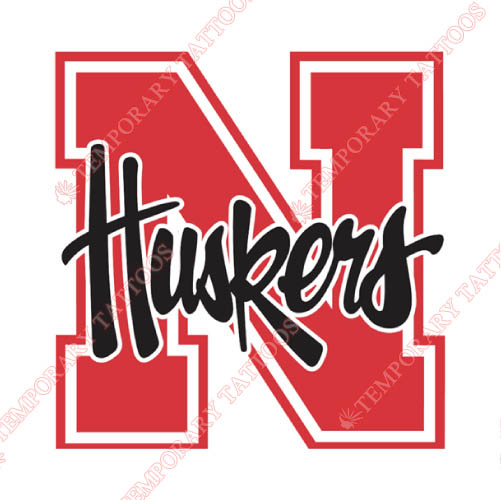 Nebraska Cornhuskers Customize Temporary Tattoos Stickers NO.5376