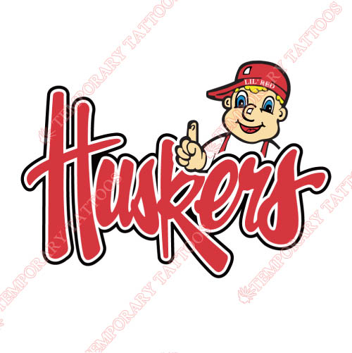 Nebraska Cornhuskers Customize Temporary Tattoos Stickers NO.5380