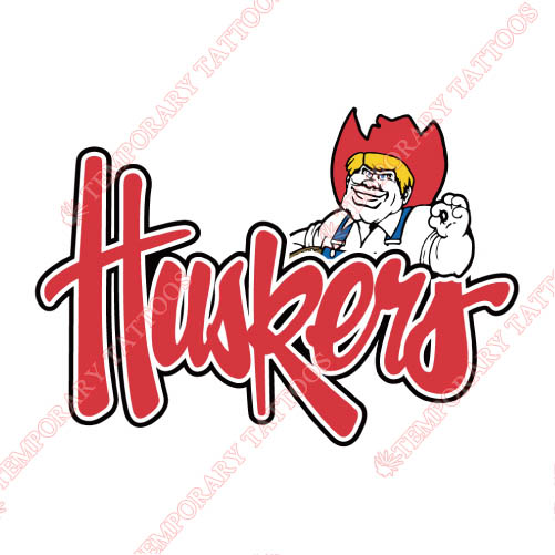 Nebraska Cornhuskers Customize Temporary Tattoos Stickers NO.5384