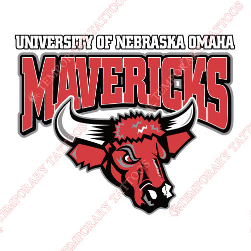 Nebraska Omaha Mavericks Customize Temporary Tattoos Stickers NO.5388