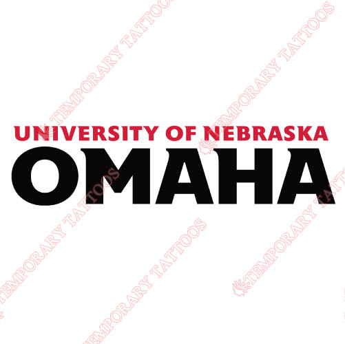 Nebraska Omaha Mavericks Customize Temporary Tattoos Stickers NO.5389