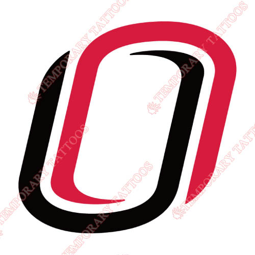 Nebraska Omaha Mavericks Customize Temporary Tattoos Stickers NO.5391
