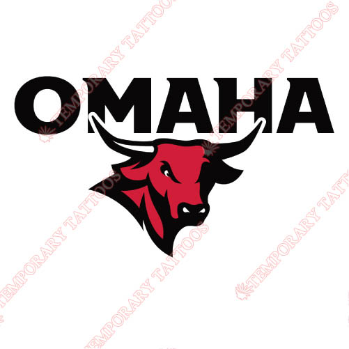 Nebraska Omaha Mavericks Customize Temporary Tattoos Stickers NO.5393