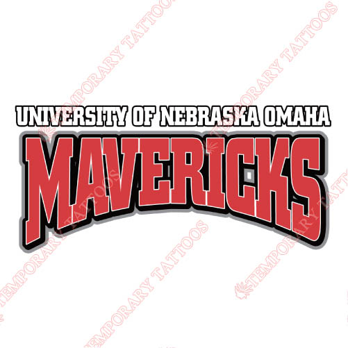 Nebraska Omaha Mavericks Customize Temporary Tattoos Stickers NO.5397