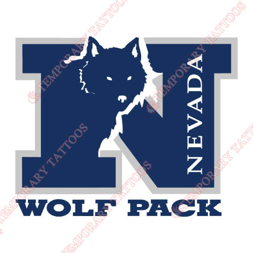 Nevada Wolf Pack Customize Temporary Tattoos Stickers NO.5401