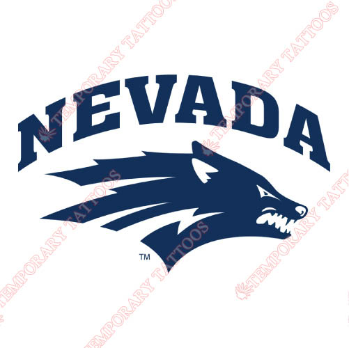 Nevada Wolf Pack Customize Temporary Tattoos Stickers NO.5403